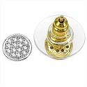 1.50 Grams Micro Pave Setting American Diamond Gold Plated C