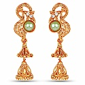 Designer Traditional Gold Plated Jhumki Earrings for Women