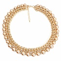 Gold Plated Princess Style Brown Pearl Adorned Fashion Neckl