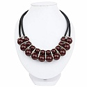 Chrome Plated Princess Style Fashion Necklace Adorned With M