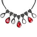 Chrome Plated Princess Style Mother of Pearl Fashion Necklac