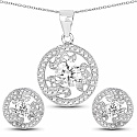 White Cubic Zirconia .925 Sterling Silver Round Shape Pendant S