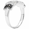 2.00 Grams Marcasite & White Cubic Zircon .925 Sterling Silv
