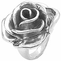 8.40 Grams Rose Shape .925 Sterling Silver Hollow Ring