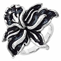3.70 Grams Flower Shape .925 Sterling Silver Hollow Ring