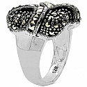 12.10 Grams Marcasite .925 Sterling Silver Ring