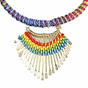 Gold Plated Multicolor Thread Brass Necklace