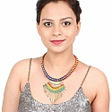 Gold Plated Multicolor Thread Necklace