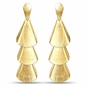 Gold Plated Contemporary Designer Dangle Earrings