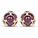 Gold Plated Dyed Ruby Stone Trendy Stud Earrings