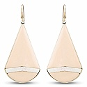 Contemporary Rose Gold Colour Enemal Dangle Earrings For Wom