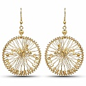 Gold Plated Jaali Work Dangle Style Earrings