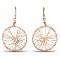 Rose Gold Plated Jaali Work Dangle Style Earrings