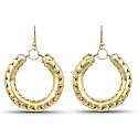 Gold Plated Alloy Baali Hoop Earrings For Women