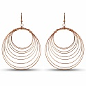 Beautiful Rose Gold Plated Hoops Earrings For Women