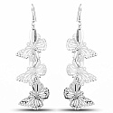 Silver Plated Butter Fly Shapedd Dangle Earrings