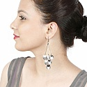 Beautiful Silver Colour Shell Shaped Dangle Earrings For Women