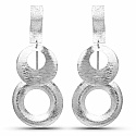 Silver Tone Alloy Dangle Earrings For Women