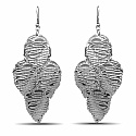 Leave Shaped Dangle Chandelier Fish Hook Earrings Pair
