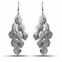 Leave Shaped Dangle Chandelier Fish Hook Earrings For Women