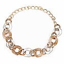 Gold Plated Fashion Opera Length Link Style Fashion Necklace