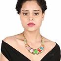 Gold Plated Multicolour Designer Princess Length Fashion Neckla