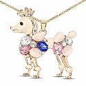 Rose Gold Plated Multicolour Fashion Animal Shape Pendant