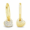 Diamond Earrings in 18K Yellow Gold (5.400 gms) with Diamond
