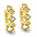 Diamond Earrings in 18K Yellow Gold (6.200 gms) with Diamond