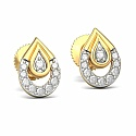 Diamond Earrings in 18K Yellow Gold (2.200 gms) with Diamond