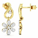 Diamond Earrings in 18K Yellow Gold (3.000 gms) with Diamond