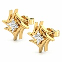 Diamond Earrings in 18K Yellow Gold (1.600 gms) with Diamond