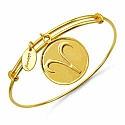 Gold Plated Brass 'Zodiac Symbol for Aries' Embossed on Coin