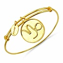 Gold Plated Brass 'Zodiac Symbol for Capricon' Embossed on C