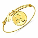 Gold Plated Brass 'Zodiac Symbol for Leo' Embossed on Coin B