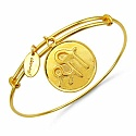Gold Plated Brass 'Shree Symbol' Embossed on Coin Bangle