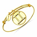 Gold Plated Brass 'Zodiac Symbol for Gemini' Embossed on Coi
