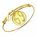 Gold Plated Brass 'Zodiac Symbol for Cancer' Embossed on Coi
