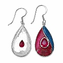 2.20CTW Genuine Glass Fiiled Ruby .925 Sterling Silver Red &