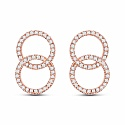 0.36CTW White Diamond 14K Rose Gold Earrings