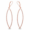 0.78CTW White Diamond 14K Rose Gold Earrings