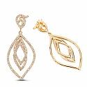 1.25CTW White Diamond 14K Yellow Gold Earrings