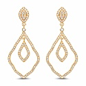 0.84CTW White Diamond 14K Yellow Gold Earrings
