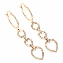 0.90CTW White Diamond 14K Yellow Gold Earrings