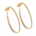 0.64CTW White Diamond 14K Yellow Gold Earrings