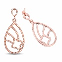 0.87CTW White Diamond 14K Rose Gold Earrings