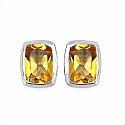 1.74CTW Genuine Citrine .925 Sterling Silver Earrings