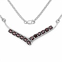 5.00CTW .925 Sterling Silver Garnet Necklace