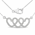 0.32CTW White Diamond 14K White Gold Necklace