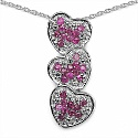 0.90CTW Genuine Ruby .925 Sterling Silver Pendant